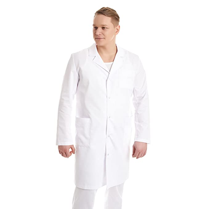 Vest Albus Bata de Laboratorio de Trabajo Hombre Estudiantes Ciencia (XS)