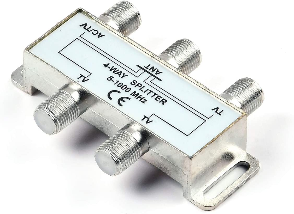 PBD 4 Way HD Digital 1Ghz High Performance Coax Cable Splitter