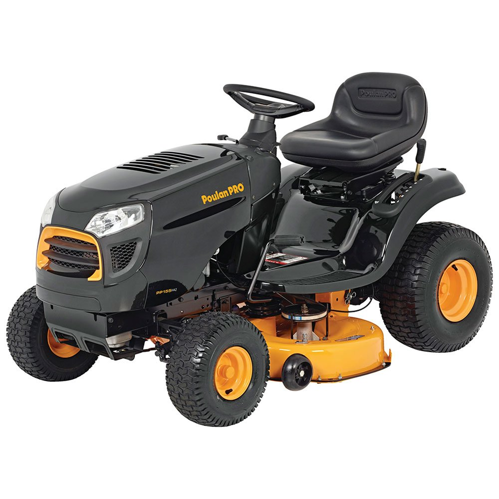 """Amazon.com : Poulan Pro 960420182 Briggs 15.5 hp Automatic Hydrostatic  Transmission Drive Riding Mower, 42"""" : Garden & Outdoor"""
