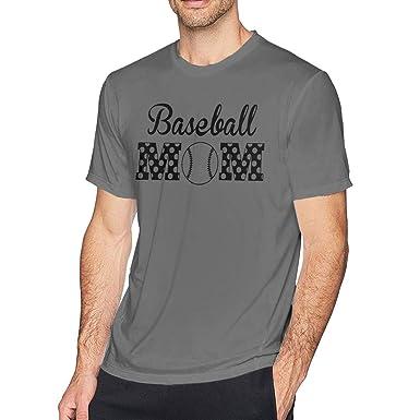 35f983e2230a8 Amazon.com: Fsa1 Fadn1 Baseball Mom T Shirt Tee Men 100% Cotton ...