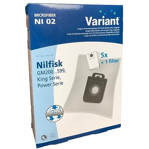 5 bolsas para aspiradoras Nilfisk 1470286500: Amazon.es: Hogar