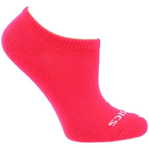 ebe6101607 Amazon.com: ASICS Womens Youth Performance No Show 6-Pack Socks ...