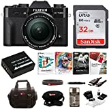 Fujifilm X-T20 Camera Body w/ XF18-55mm Lens Kit (Black) w/Editing Software & 32GB Card Kit