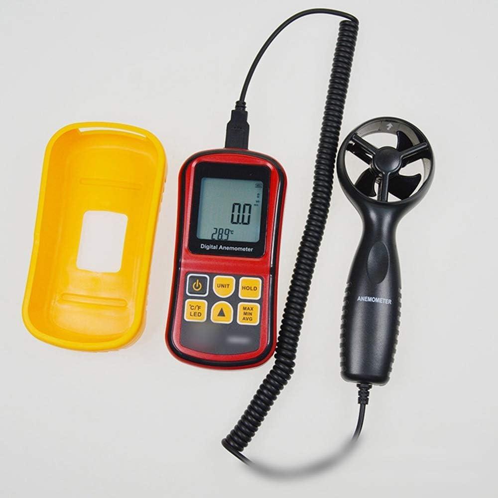 LONGJUAN-C Windmeter Handheld Digital Anemometer Wind Speed Air Temperature Anemometer Color Anemometer