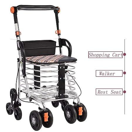 Mhxzkhl Andador para Ancianos De 4 Ruedas,Aluminio ...