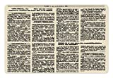 """Lunarable Old Newspaper Pet Mat for Food and Water, Newspaper Page Article Column Unreadable Text Headings Journal Image Art, Non-Slip Rubber Mat for Dogs and Cats, 18"""" X 12"""", Black Cream"""