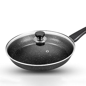 Frying Pans Sartenes Pan Antiadherente Pan Maifan Pan No-Aceite Mini Cocina Cocina De Inducción General Estufa De Gas Aplicable Cubierta De Vidrio Diámetro ...