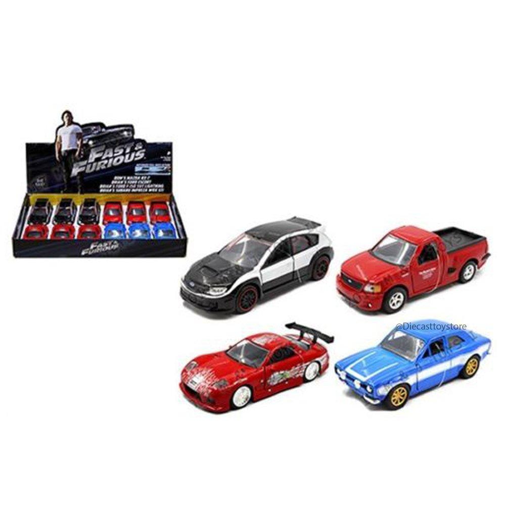 Jada 1:32ディスプレイ – 高速&Furious 4スタイル詰め合わせ ダイカスト 4ピース 98674-DP4 B074TNTPTW