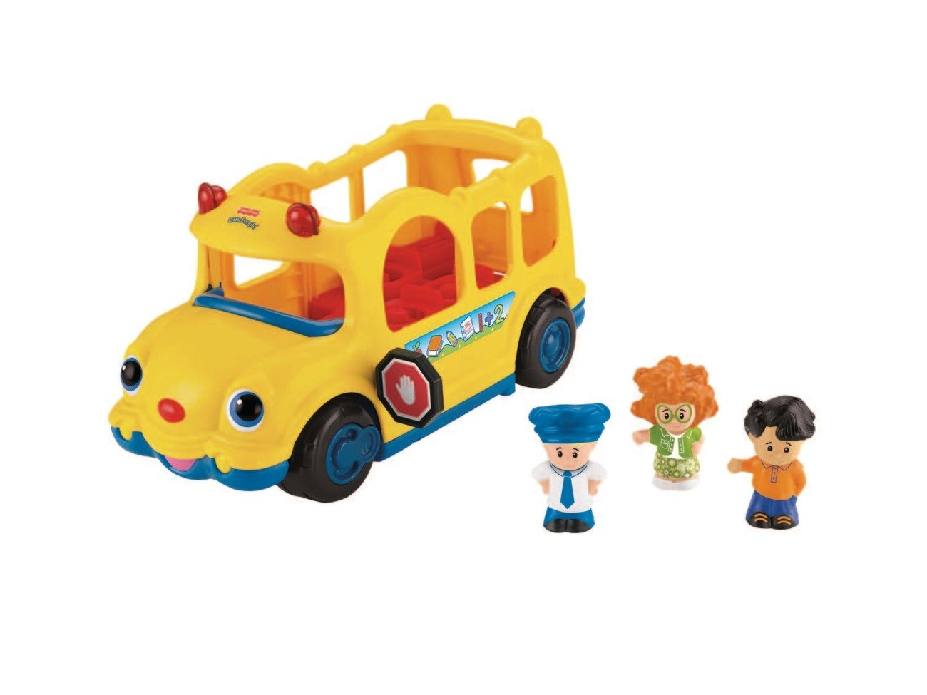 Mattel J Fisher Price Little People Autobús escolar con figuras funciona con