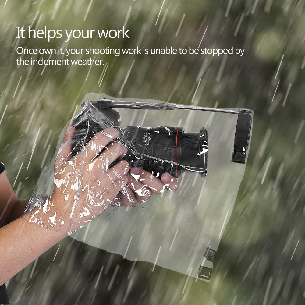 Acouto Rain Cover Coat Dust Proof Camera Protector Rainwear Rainproof for Canon Nikon Sony Samsung and Other DSLR Camera