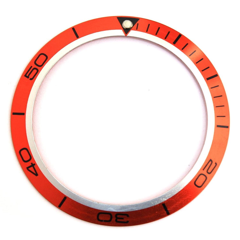 交換用時計ベゼル挿入オレンジフィットPlanet Ocean 45.5 MMケース B00ZSLKUHO