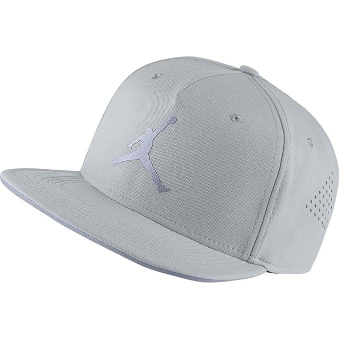 65eb1a7301f Nike Mens Jordan Jumpman Perf Snapback Hat Wolf Grey 724902-013 ...