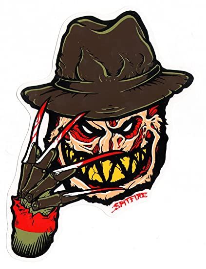 Spitfire wheels skateboard sticker freddy krueger 20cm high approx horror
