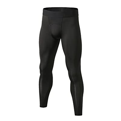 LNJLVI Men's Compression Pants- Cool Dry Base Layer Sport Tights for Workout Running Cycling