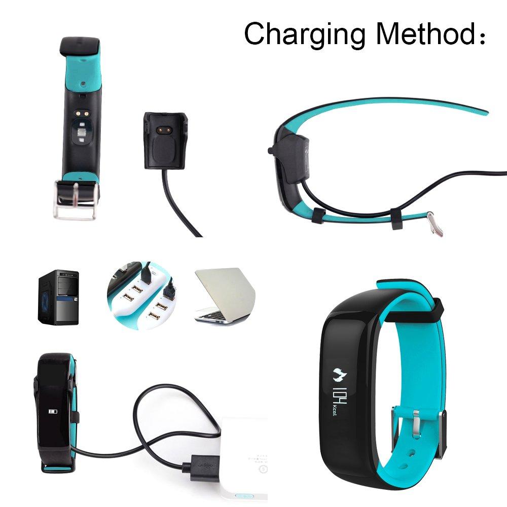 Perseguidor de la Aptitud, IP67 Impermeabiliza el Perseguidor de la Actividad de Bluetooth, Monitor de Ritmo Cardiaco, Monitor de Presión Arterial, ...