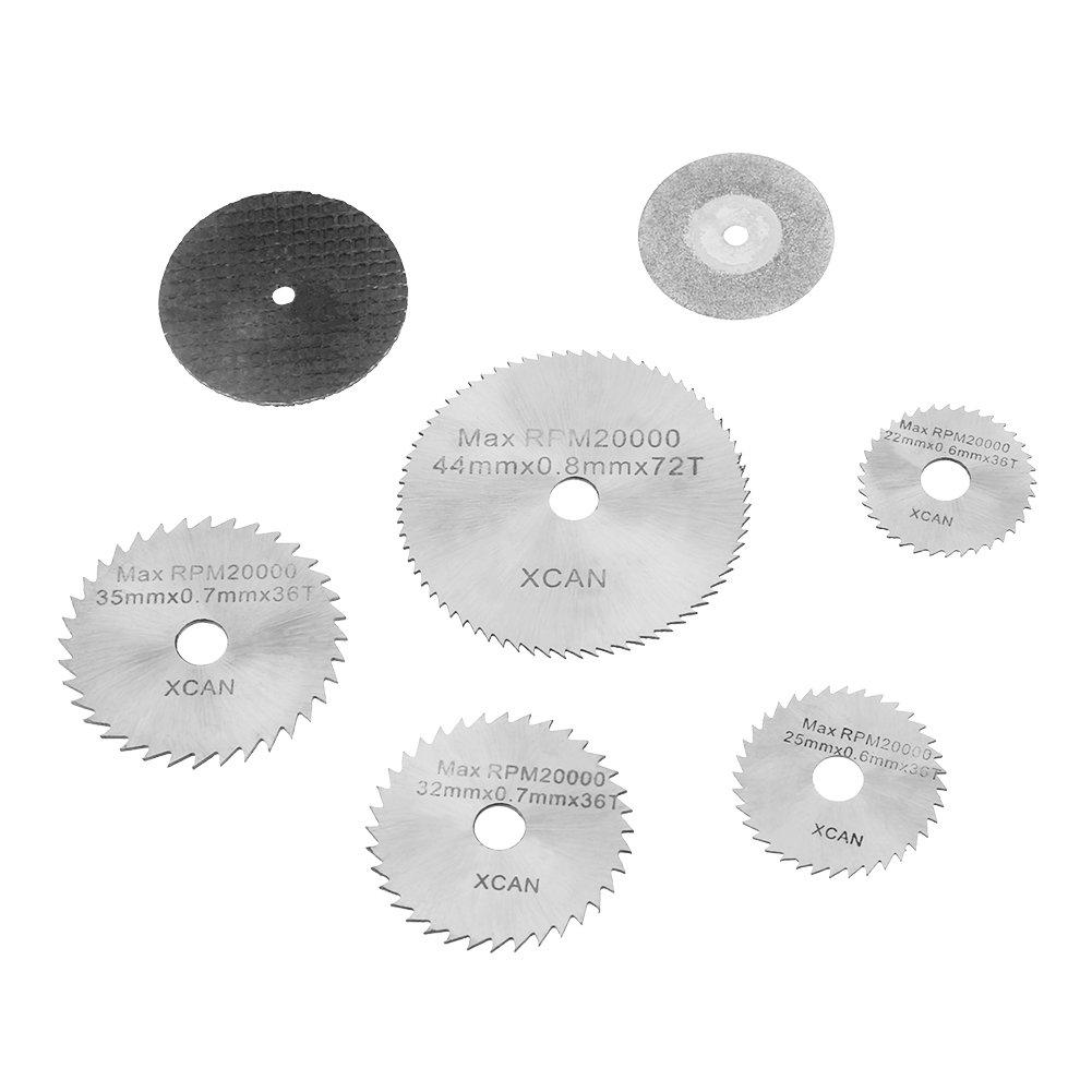HSS-Diamant-Kreiss/ägebl/ätter Trennscheiben und Spanndorne f/ür Rotationswerkzeuge Trennscheibens/äge 30 Stk
