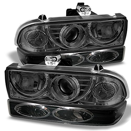 For 98-05 Chevy S10 | Blazer Pickup Truck Smoked Lens Projector Headlight + Bumper light Assembly