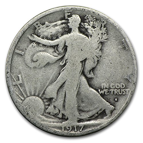1917 S Obverse Walking Liberty Half Dollar Good Half Dollar Good (1917 Walking Liberty)