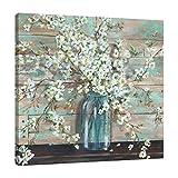 Jaxson Rea SC26663636-TSS ''Blossoms in Mason Jar'' Wrapped Canvas by Tre Sorelle Studios, 36'' x 36'' x 1.5''