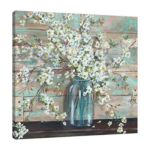 Jaxson Rea SC26663636-TSS ''Blossoms in Mason Jar'' Wrapped Canvas by Tre Sorelle Studios, 36'' x 36'' x 1.5'' by Jaxson Rea