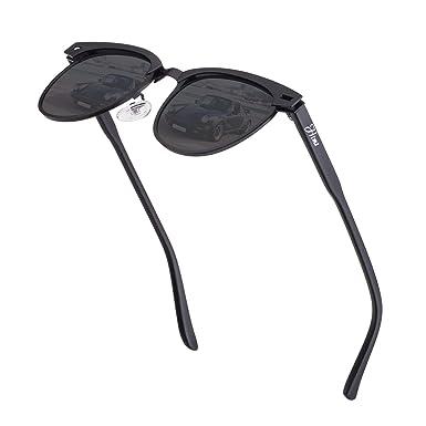 b0ca35ea333a Vintage Semi Rimless Polarized Sunglasses for Men Women Stylish Brand  Design Sun Glasses Metal Retro Half