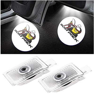 CHANONE Car Door LED Logo for Dodge Projector Ghost Shadow Charger Magnum, Entry Welcome Lamp Logo Light, LED Courtesy Step Lights Ground Lamp Kit Replacement (2 Pack): Automotive