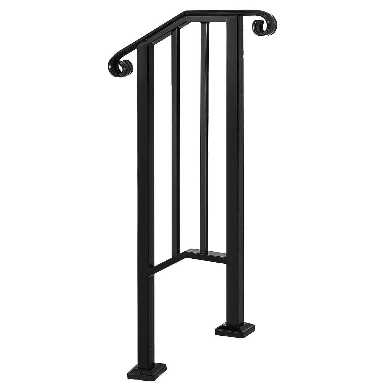 Husuper Pasamanos Negro Barandilla de Escalera Barandilla Escalera Pasamanos Escalera Pasamanos Barandilla Barandas para Interiores y Exteriores