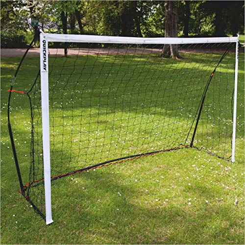 QuickPlay Kickster Academy Soccer Goal 8x5' - Ultra Portable Soccer Goal Includes Soccer Net and Carry Bag [Single Goal] Now Available in The US for The First time.