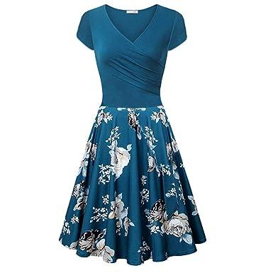 Aini Vestido Vintage De Verano Vestido Estampado Falda Delgada De ...
