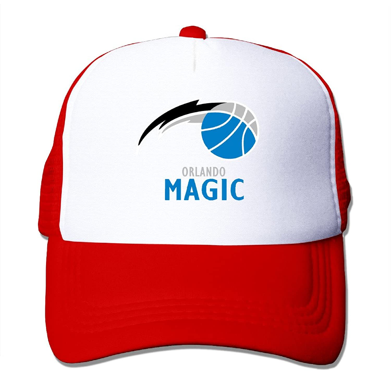 Vintage Orlando Magic Logo3 Adult Nylon Adjustable Mesh Hat Baseball Cap Red One Size Fits Most