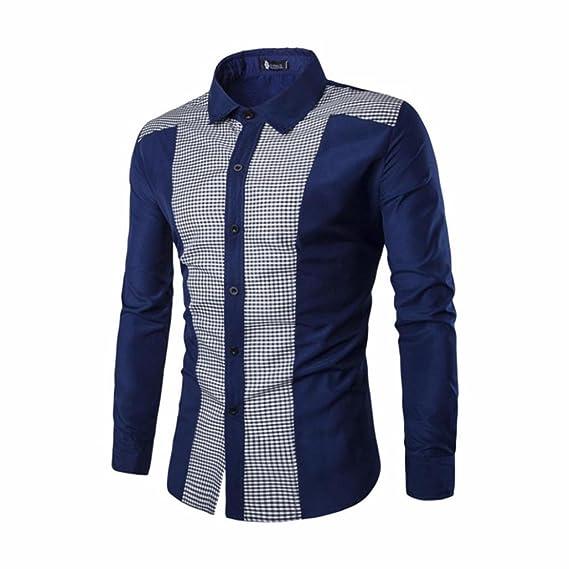 Camisa Hombre Blusa Suelta Casual Transpirable Top Manga Camisas Cuello Color Sólido Blusas Trabajo Manga Larga para xford Trajes Formales Casuales Slim Fit ...