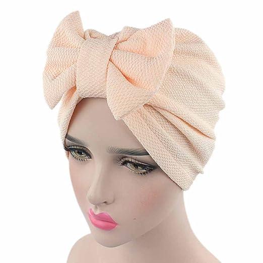 19da4d629a22d Kshion Women Bow Hat Beanie Scarf Turban Head Wrap Cap (Beige) at ...