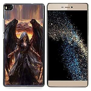 Stuss Case / Funda Carcasa protectora - Muerte de Giro Black Wings Bruja - Huawei Ascend P8 (Not for P8 Lite)