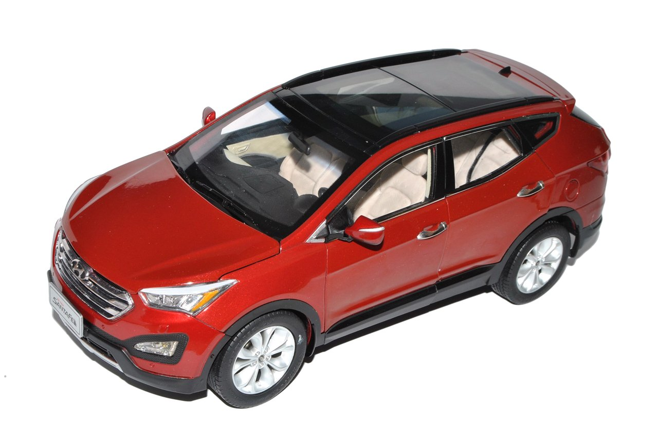 Paudi Hyundai Santa Fe Rot SUV Typ DM Ab 2012 1/18 Modell Auto