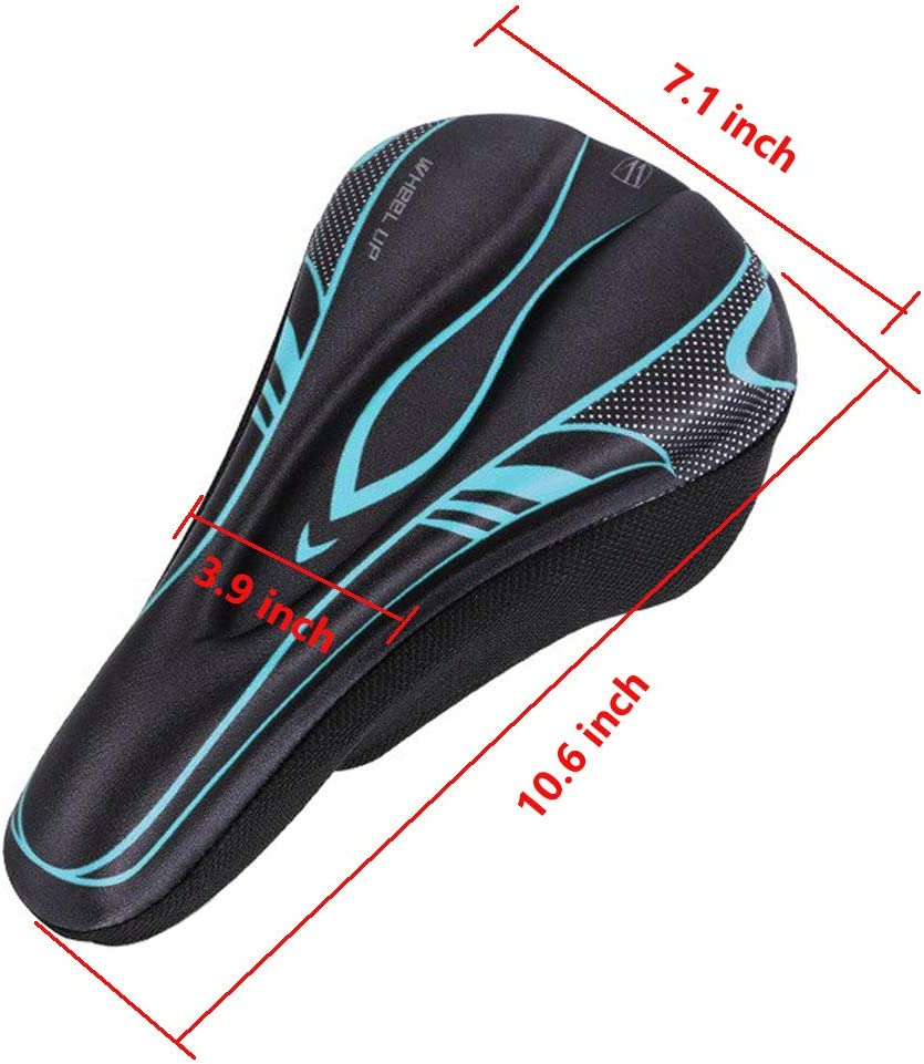 Comfort Bike Seat Silicone Soft Padded Bicycle Saddle Anti-Slip Waterproof Bike Saddle Cover Fit for Bicycle Mountain Road Bikes