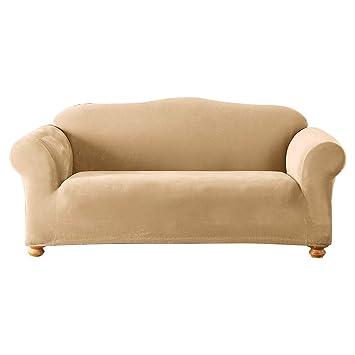 Amazon.com: Funda para sofá de punto piqué elástico de ...
