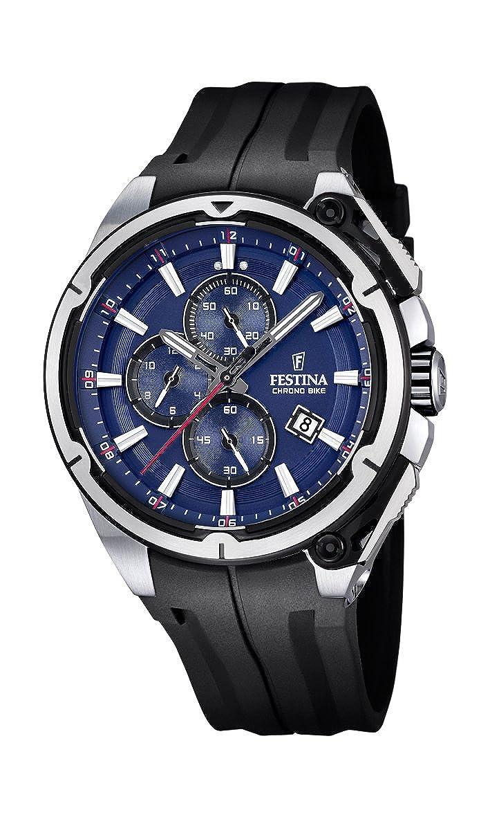 Festina F16882/2 - Reloj de Pulsera Hombre, Plástico, Color Negro: Amazon.es: Relojes