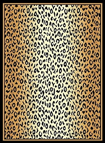 - Champion Rugs Exotic Leopard Animal Skin Print with Border Area Rug Carpet (2' X 3')