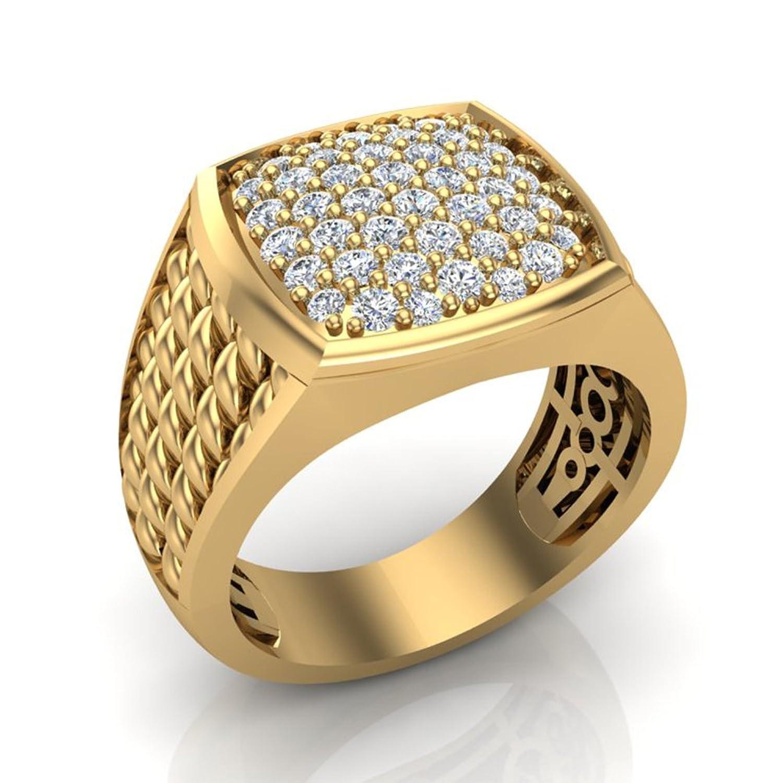 1.03 ct tw Cushion Pavé set Diamond Ring 18K Gold (G,VS)