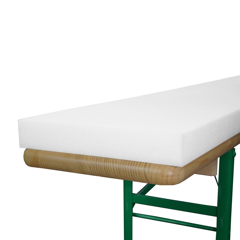 Beautissu - Juego de planchas de Goma-Espuma para Banco (2 Unidades, 25 x 220 x 4 cm)