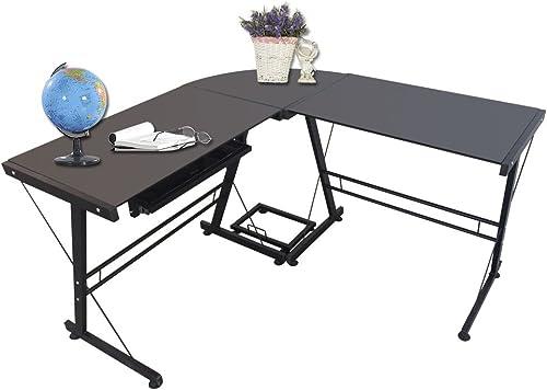 L-Shaped 59'' Large Office Desk