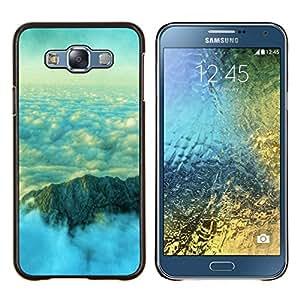 For Samsung Galaxy E7 E700 Case , Naturaleza Mar Remolinos- Diseño Patrón Teléfono Caso Cubierta Case Bumper Duro Protección Case Cover Funda