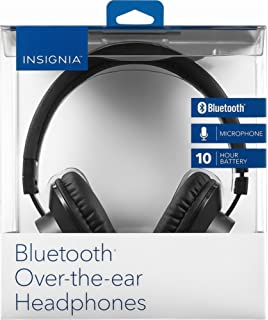 0a231df48bf Insignia NS-CAHBTOE01 Bluetooth Wireless Over-The-Ear Headphones - Black
