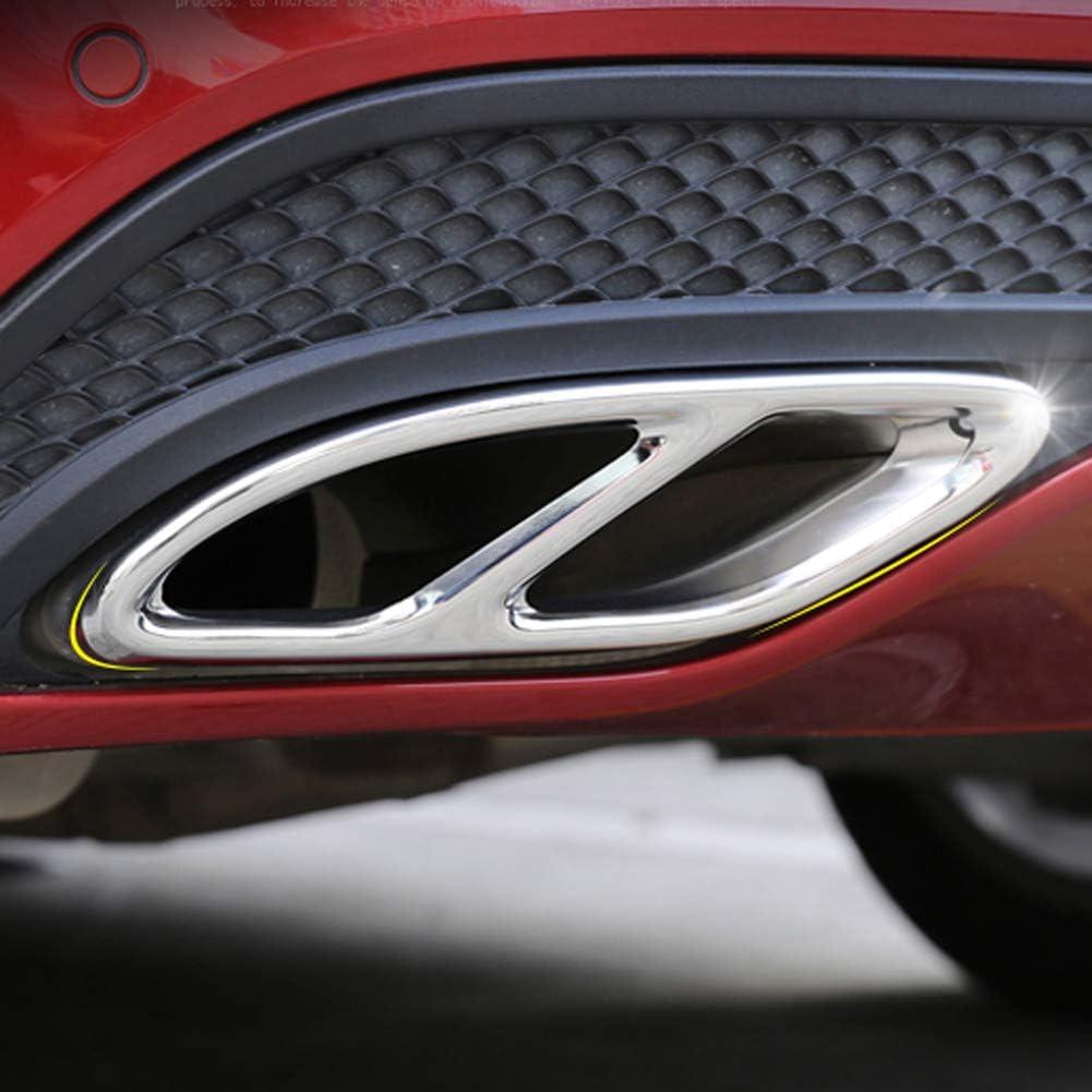 F/ür Mercedes Benz A Klasse W177 V177 A180 A200 A220 A250 2019 TAYDMEO Auspuff Abdeckung Car Styling Automobile Heckdekorrahmen Auspuffblenden Aufkleber Autozubeh/ör