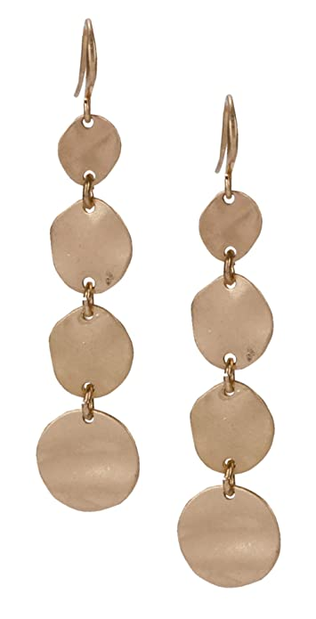 95094a3a0 Amazon.com: Teardrop Earring Multi Layered in Gold and Silver for Women:  Jewelry