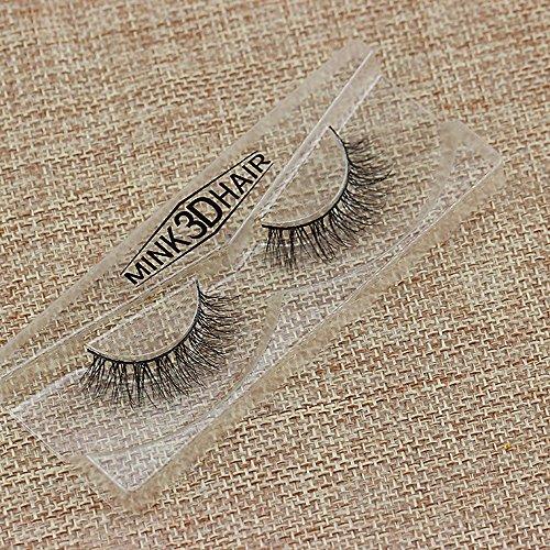 SUSSMAI Real 3D Mink Soft Long Natural Eye Lashes Makeup Thick False Eyelash Extension D 3D Mink Hair False Eyelashes 3D-20 Black