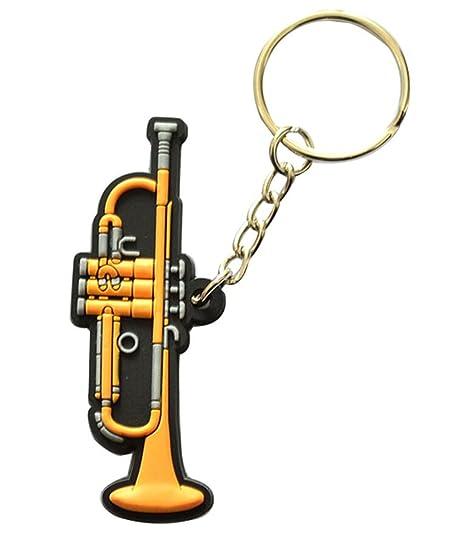 Creative bright color Musical instrumento llavero llavero ...