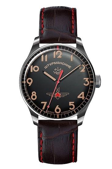 Sturmanskie Gagarin 2609-3705124 - Reloj vintage, color negro y rojo
