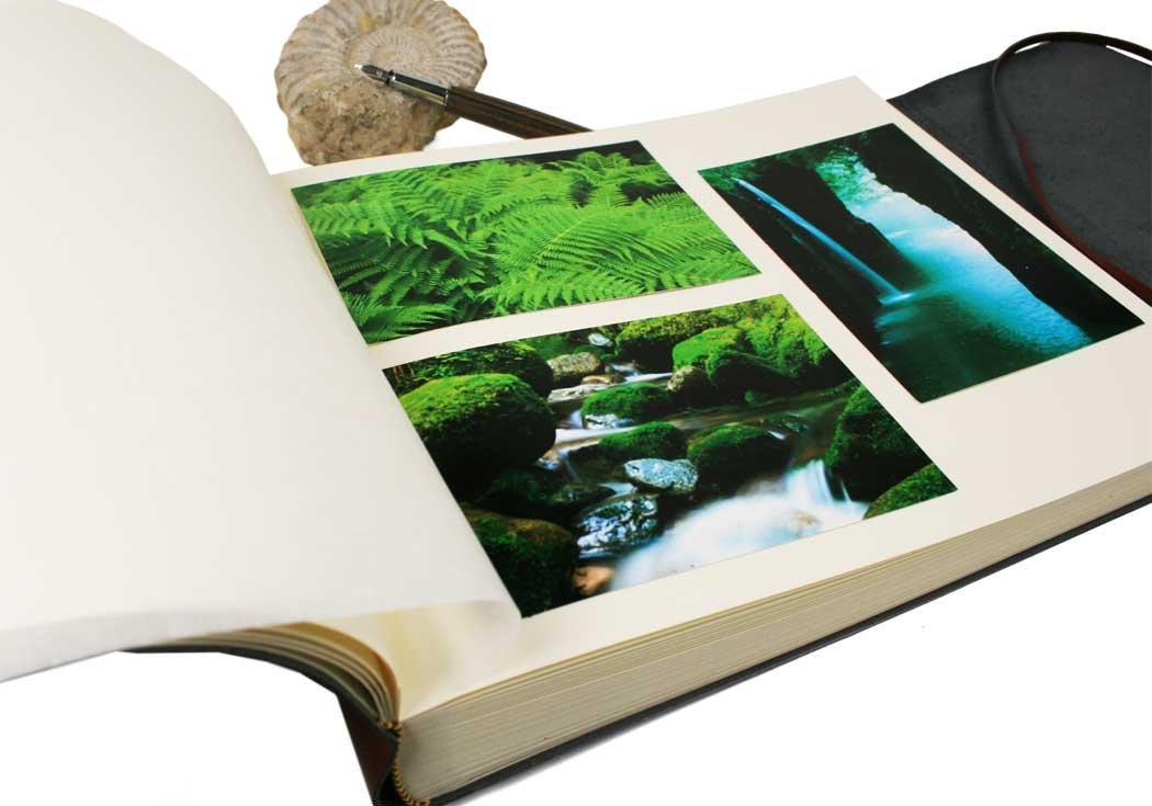 LEATHERKIND Positano Leder Fotoalbum Handgefertigt in Italien Large Schwarz