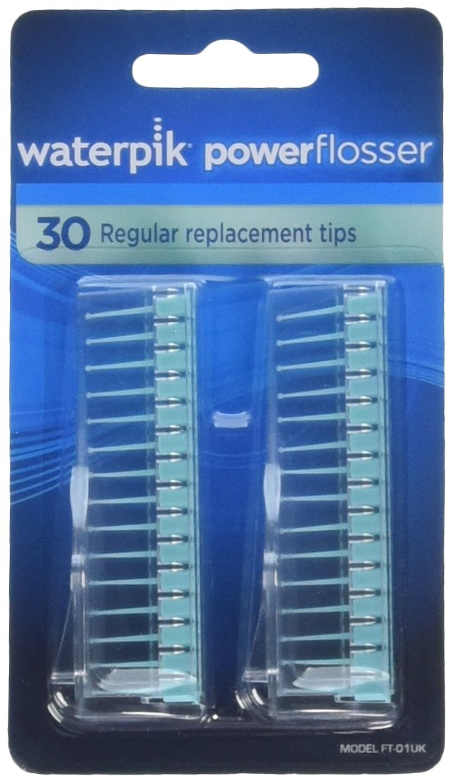 Waterpik Powerflosser Regular Replacement Tips FT-01 30 ea (Pack of 2)